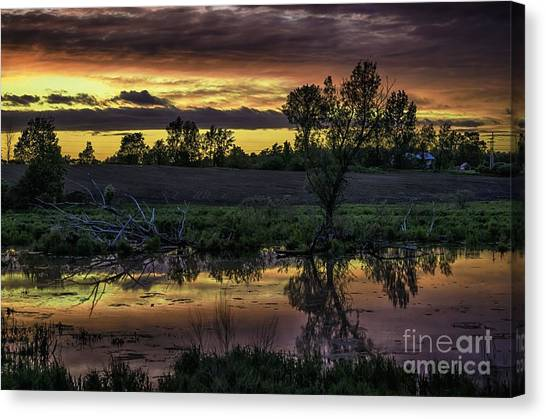 The Most Perfect Sunset Canvas Print