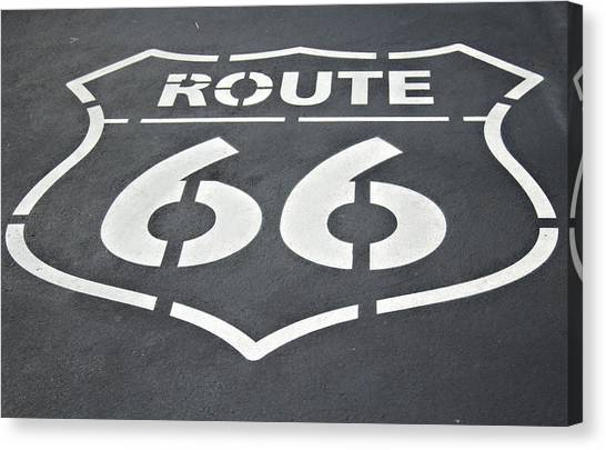 Historic Route 66 Canvas Print - The Mother Road by Ricky Barnard