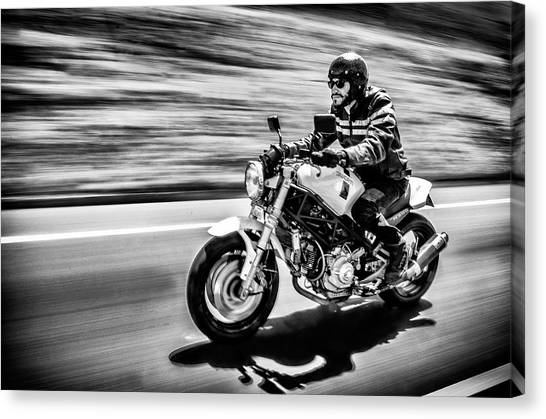 Driving Canvas Print - The Motorcycle Diaries by Alejandro Fern??ndez Mu??oz