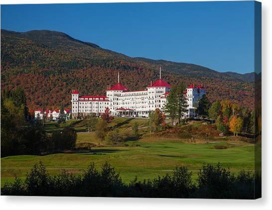 The Mount Washington Hotel In Autumn Canvas Print