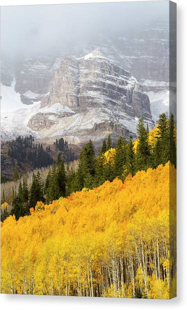 Canvas Print - The Mountainside Is Ablaze by Robbie George