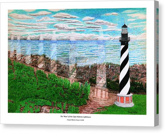 The Move Of The Cape Hatteras Lighthouse Canvas Print by Frank Evans