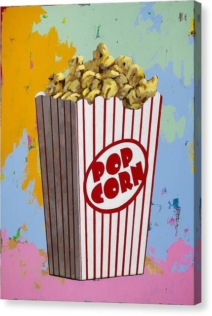 Popcorn Canvas Print - The Movies #2 by David Palmer