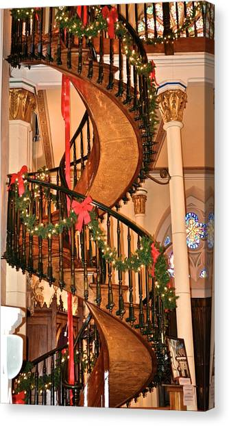 The Mysterious Miracle Staircase Canvas Print