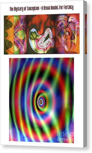 The Mystery Of Conception An Amulet For Fertility Canvas Print