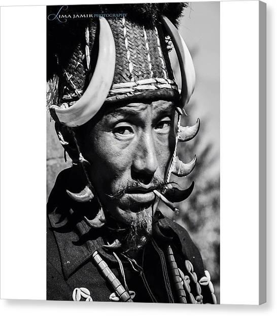 Hornbill Canvas Print - The Naga Headhunter #naga #headhunter by Lima Jamir