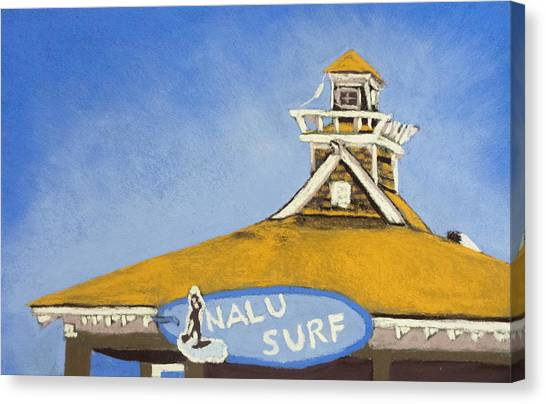 The Nalu Surf Shack Canvas Print by Cristel Mol-Dellepoort