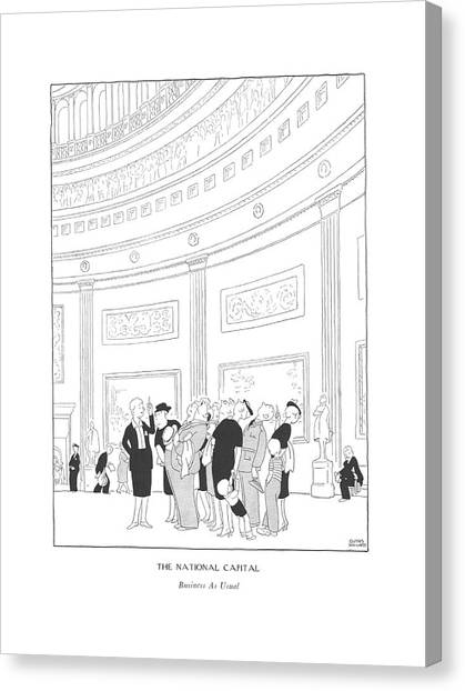 The National Capital  Business As Usual Canvas Print