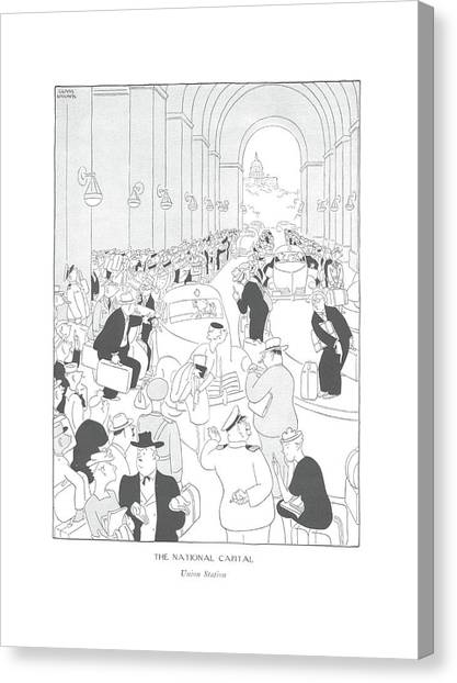 The National Capital  Union Station Canvas Print