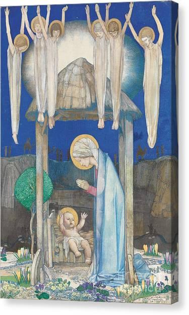 Holy Bible Canvas Print - The Nativity by Edward Reginald Frampton