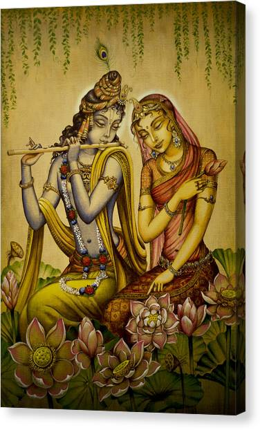 The Nectar Of Krishnas Flute Canvas Print