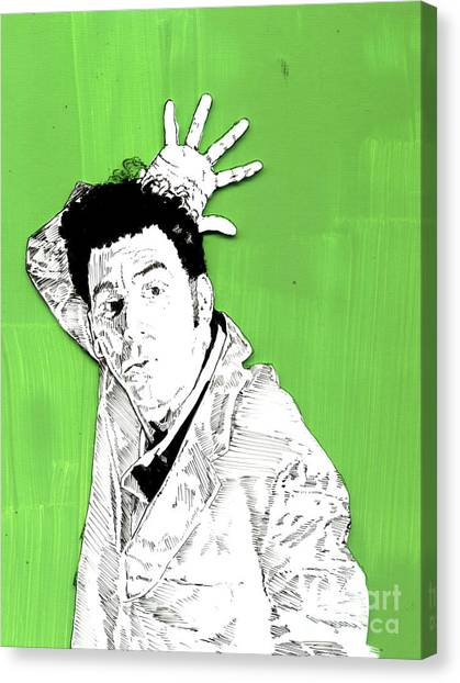 the Neighbor on green Canvas Print