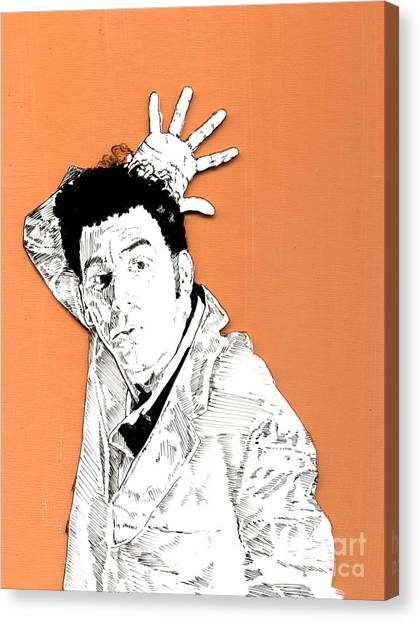 The Neighbor On Orange Canvas Print