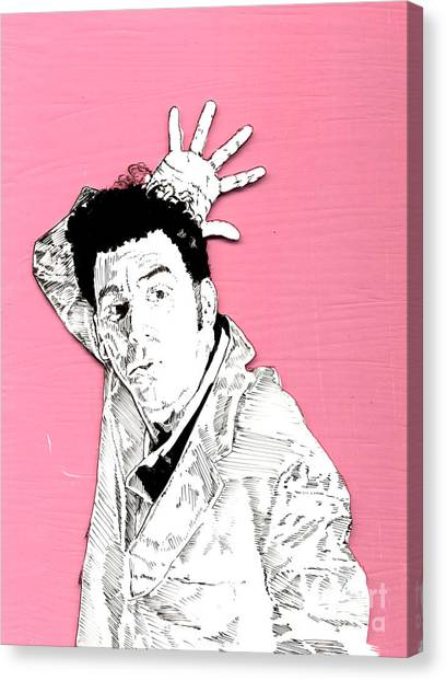 The Neighbor On Pink Canvas Print