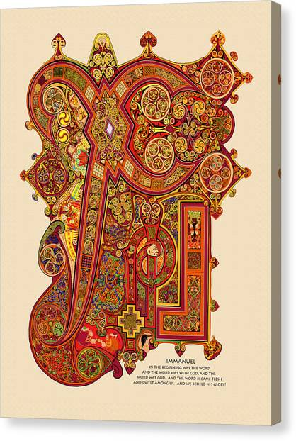 Celtic Art Canvas Print - The New Chi Rho by Martin Brockhaus