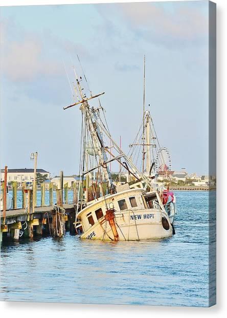 The New Hope Sunken Ship - Ocean City Maryland Canvas Print