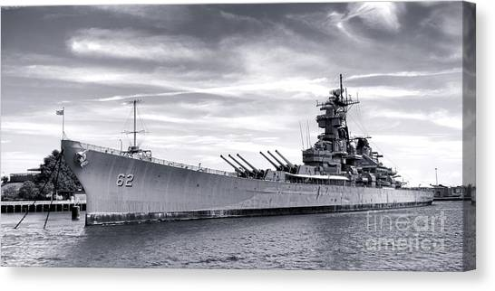 Navy Canvas Print - The New Jersey by Olivier Le Queinec