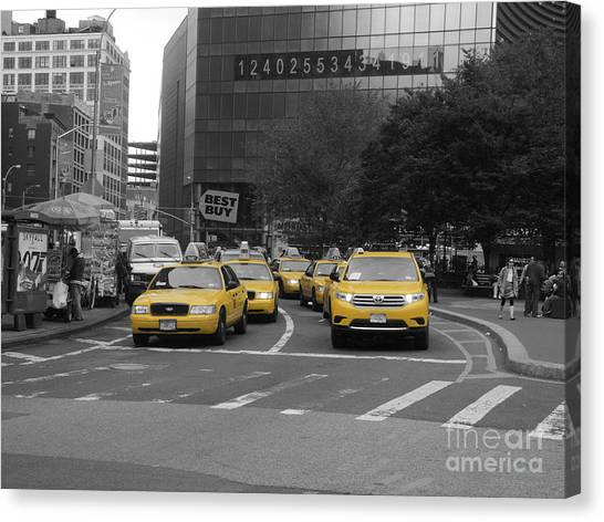 The New York Cabs Canvas Print