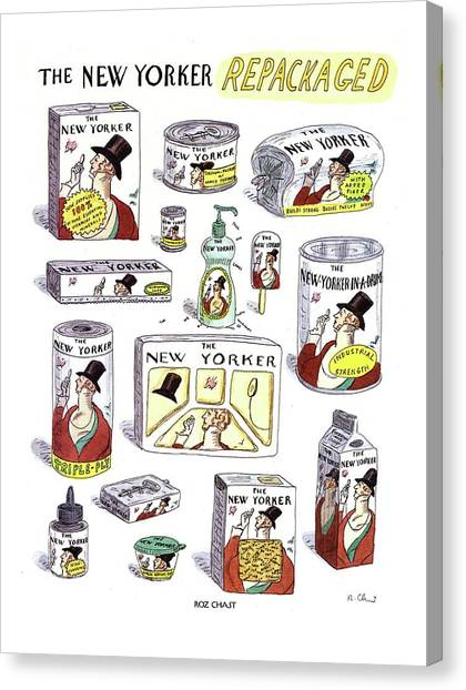 The New Yorker Repackaged Canvas Print