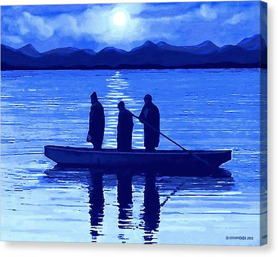 The Night Fishermen Canvas Print