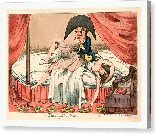 Chamber Pot Canvas Print - The Night Mare, England Ca by Litz Collection