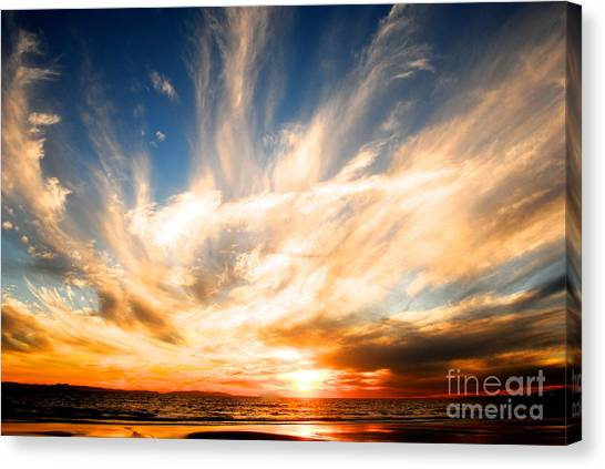 The Night The Sunset Danced Canvas Print