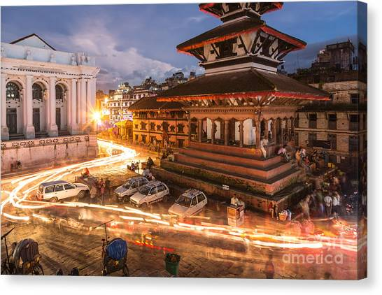 The Nights Of Stunning Kathmandu Canvas Print