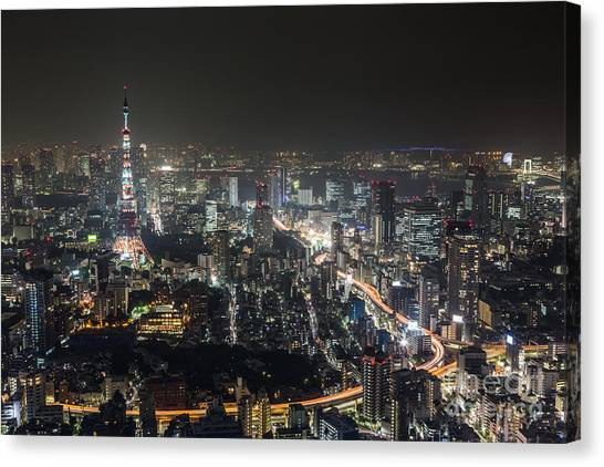 The Nights Of Tokyo Canvas Print