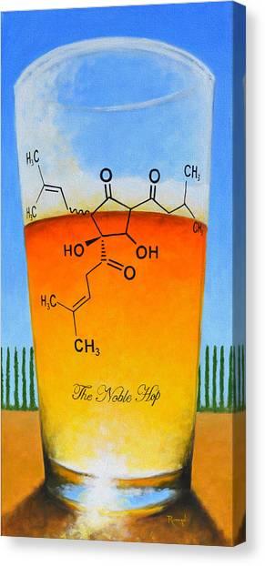 Pint Glass Canvas Print - The Noble Hop by Glenn Ruthven