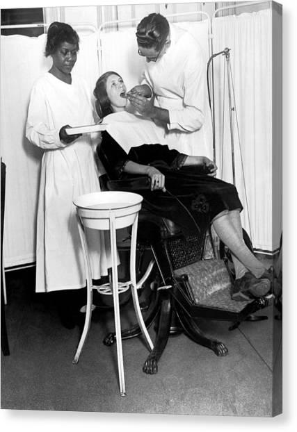 Harlem Canvas Print - The North Harlem Dental Clinic by Underwood Archives