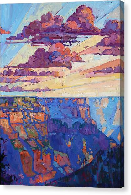 Landscape Canvas Print - The North Rim Hexaptych - Panel 5 by Erin Hanson
