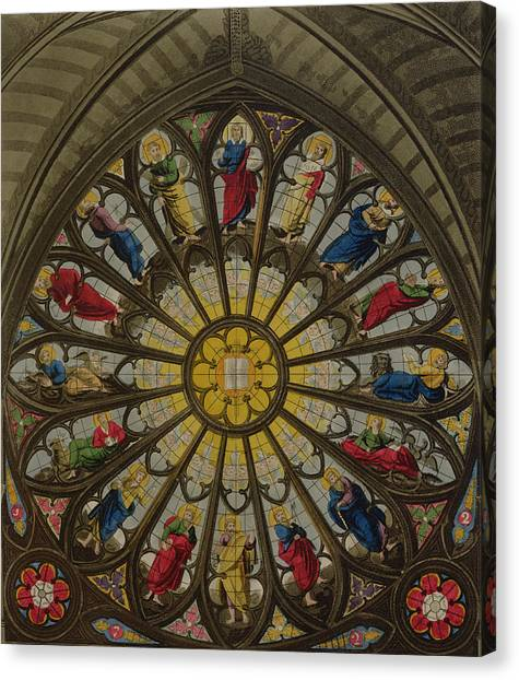Westminster Abbey Canvas Print - The North Window by William Johnstone White