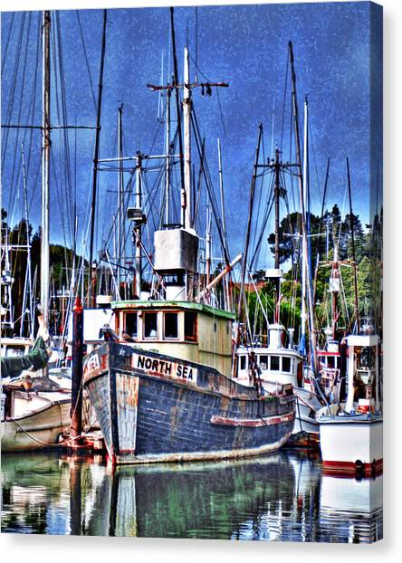 The Northern Sea Fishing Boat Canvas Print