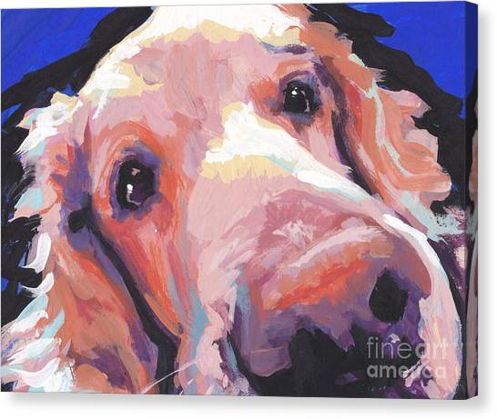 Golden Retrievers Canvas Print - The Nose Knows by Lea S