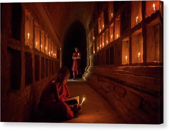 Meditation Canvas Print - The Novices by Amnon Eichelberg