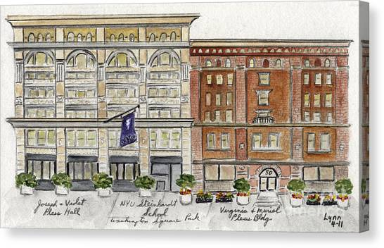 The Nyu Steinhardt Pless Building Canvas Print