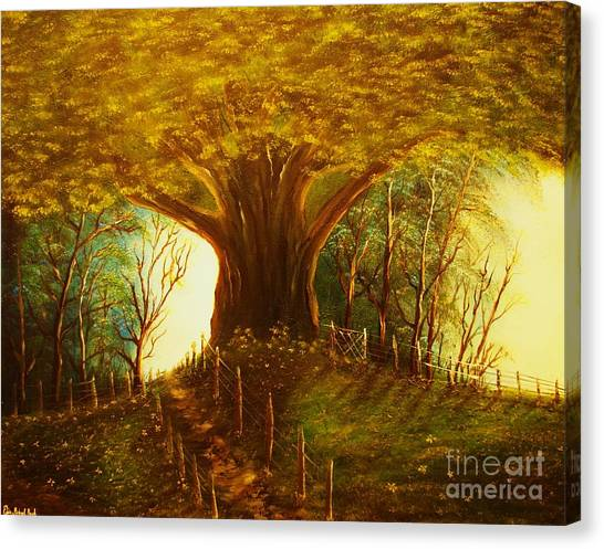 The Oak Tree-original Sold-buy Giclee Print Nr 31 Of Limited Edition Of 40 Prints  Canvas Print