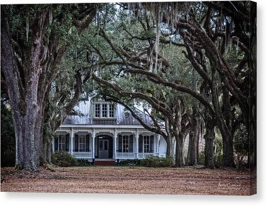 The Oaks Plantation Canvas Print