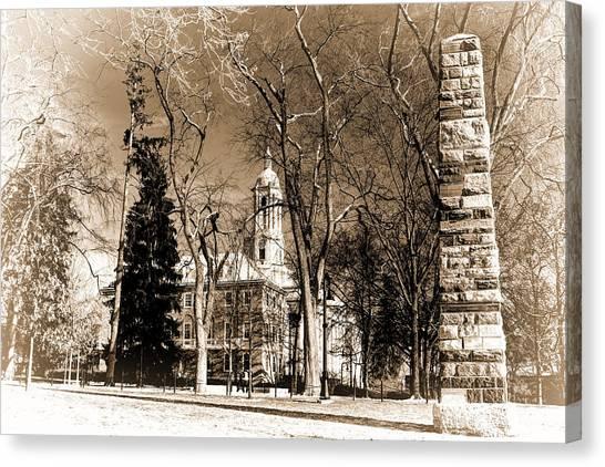 Pennsylvania State University Canvas Print - The Obelisk by Rusty Glessner