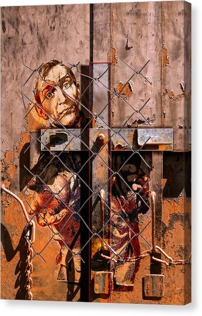 Chain Link Fence Canvas Print - The Obligation by Jeff Burgess