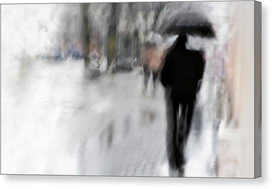 Charcoal Canvas Print - The Observer by Gilbert Claes