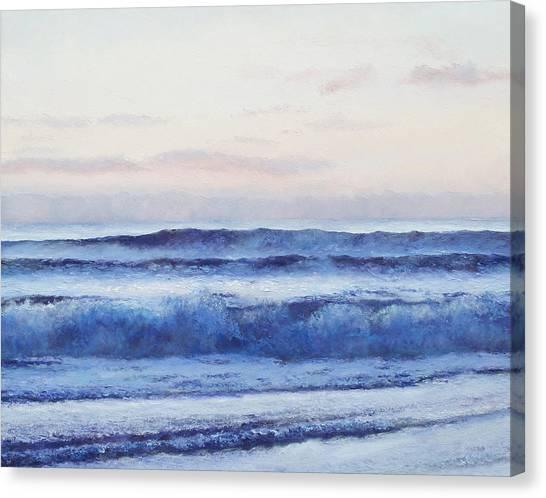 Beach Style Canvas Print - The Ocean At Dusk by Jan Matson