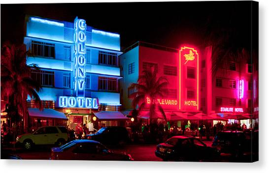 The Ocean Drive Canvas Print