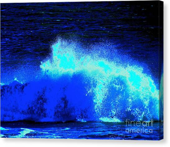 The Ocean Knows Canvas Print by Q's House of Art ArtandFinePhotography