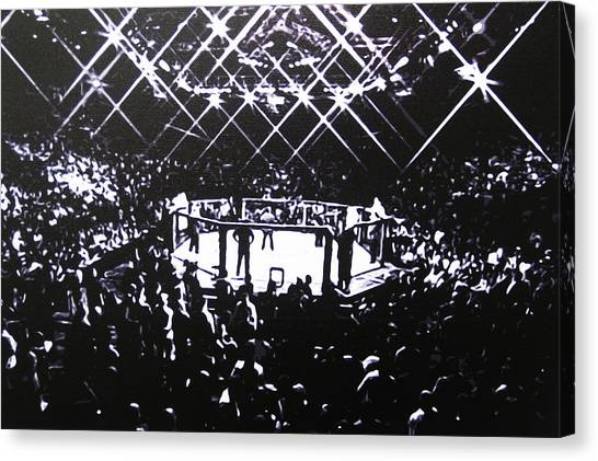 Mma Canvas Print - The Octagon by Geo Thomson