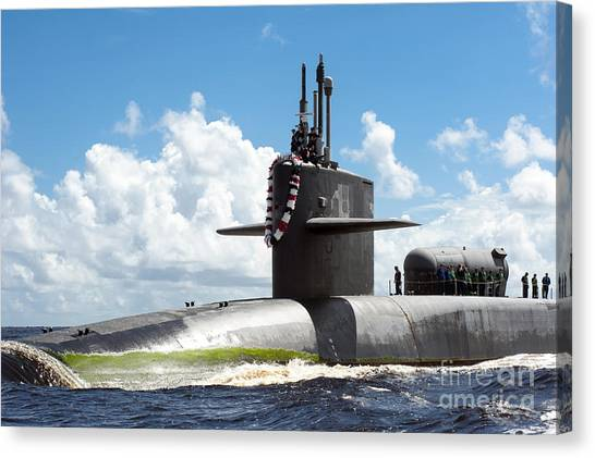 Fernandina Beach Canvas Print - The Ohio-class Guided Missile Submarine by Stocktrek Images