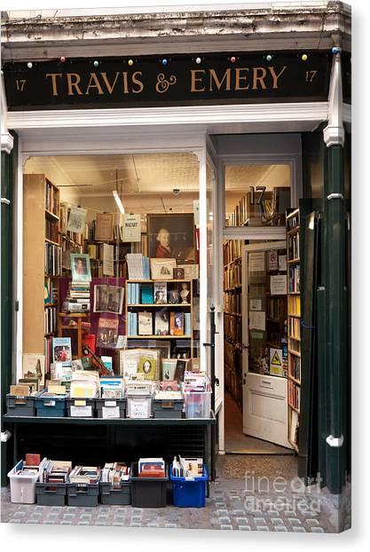 The Old Bookshop Canvas Print