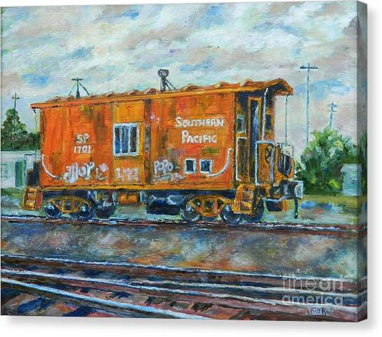 The Old Caboose Canvas Print