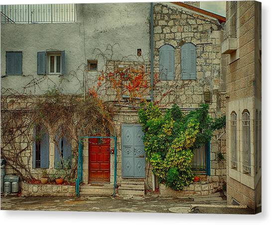 The Old Courtyard Canvas Print