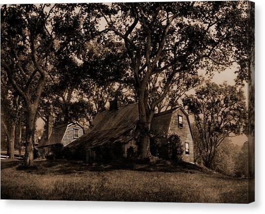 Dedham Canvas Print - The Old Fairbanks House, Dedham, Massachusetts by Litz Collection